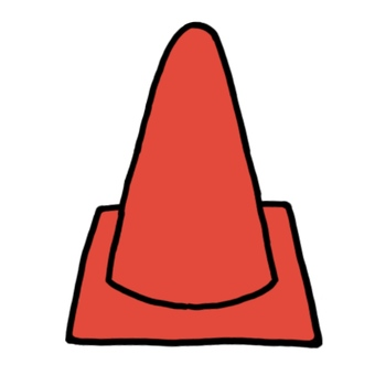 Color cone red