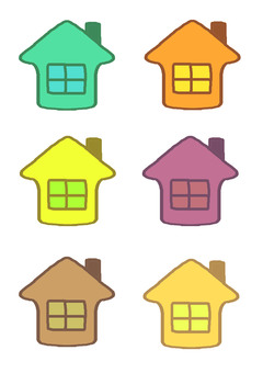 Multicolored house