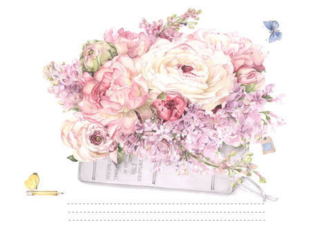 Flower frame 270 - Lilac greeting card