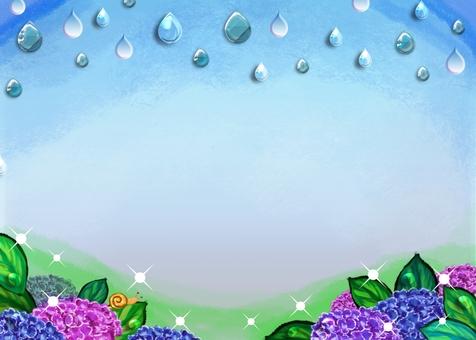 繡球在雨中