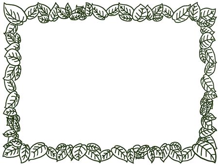프레임 손으로 그린 나뭇잎 장식