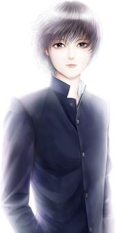 A boy in Gakuran