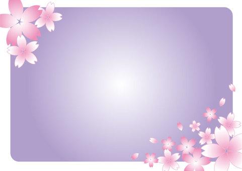櫻花框架紫色01