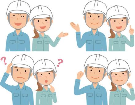 70302. Gender work clothes, helmet 1