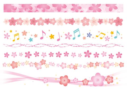 Spring material 060 Sakura's line set