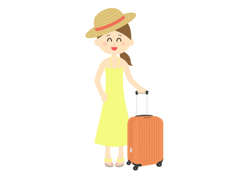 A woman going on a trip
