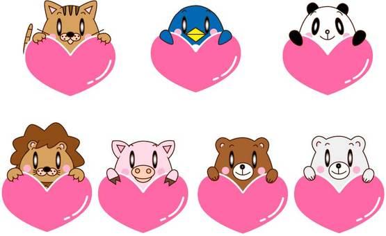 심장을 가진 동물 · 7 마리