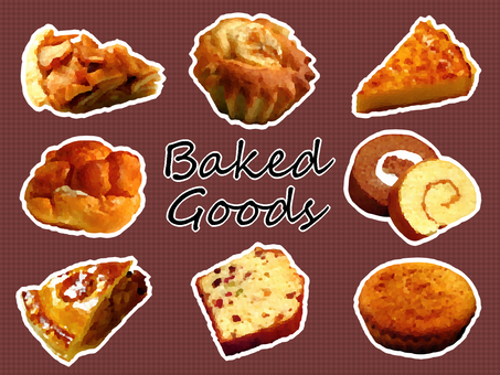 Baked confectionery set