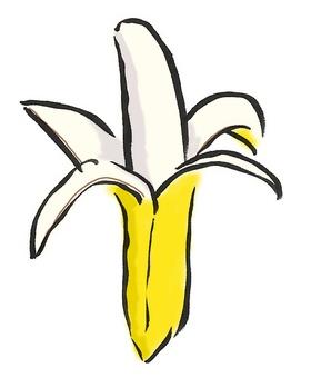 Banana 02 (brush pen)