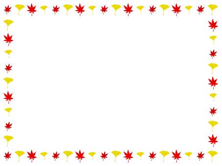단풍과 나비 장식 프레임
