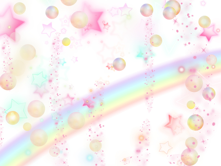 A star and a rainbow are pounded
