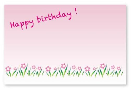 Pink flower birthday celebration birthday card