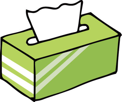 Tissue box (yellow green)