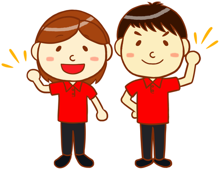 "Polo shirt male and female ""red"""
