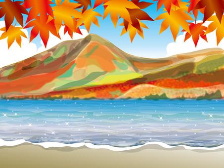 湖的四季(3)秋天的秋葉