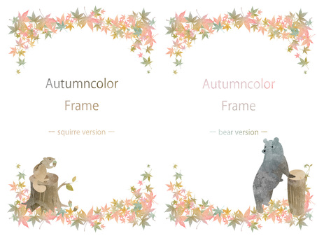 Autumn color frame set ver 21
