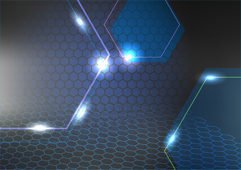 Black hexagon and light abstract background texture material