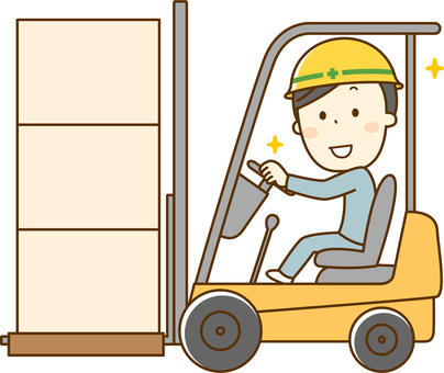 Fork lift driver _ male