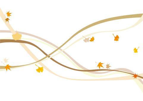 秋天的線條背景