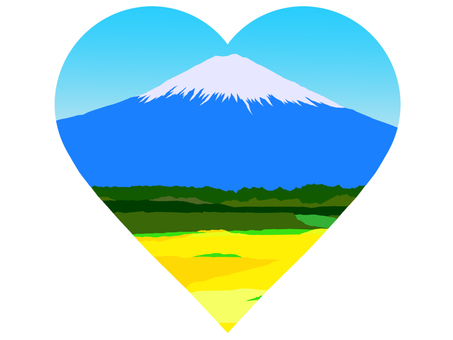 Mt. Fuji in Heart