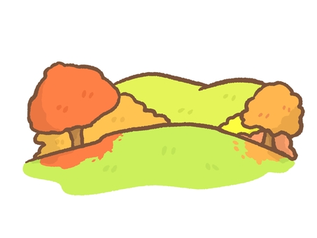 Autumn leaves mountain