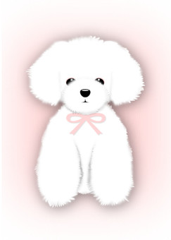 Toy · Poodle background Pale pink