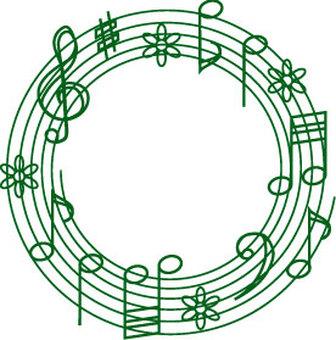 Musical circle green