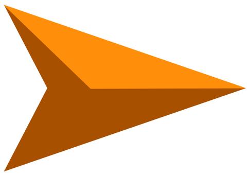 矢印 カーソル 橙