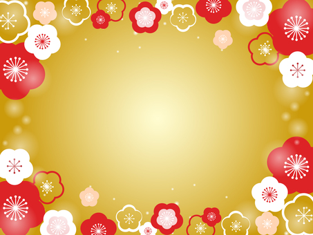 Plum flower decorative frame 13