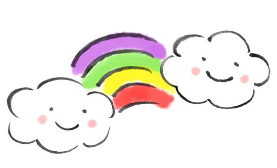 Rainbow and Cloud 2