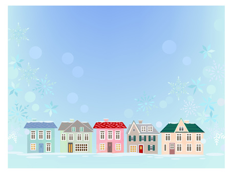 白雪皚皚的城市