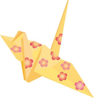 Plum flower origami