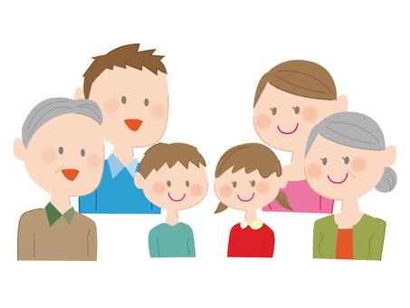 6 kişilik aile
