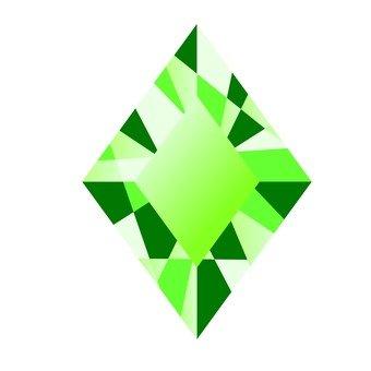 다이아몬드 보석 - 녹색