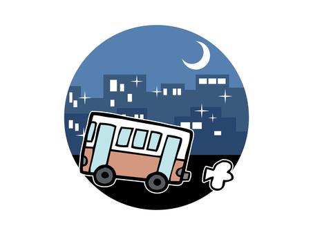 Night bus image illustration