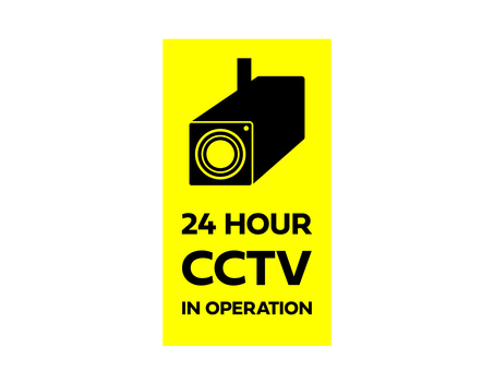 Security camera, sticker during surveillance camera operation