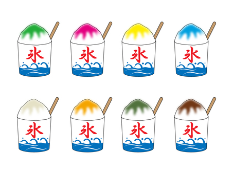Shaved ice material set