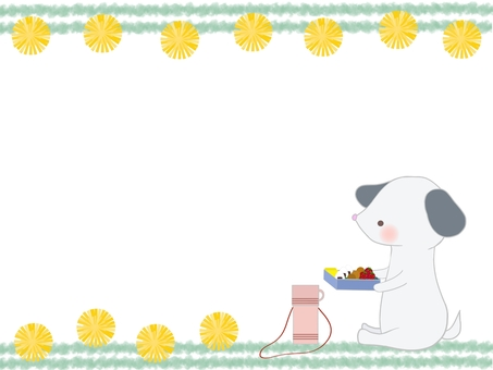 Lunch and dog illustration