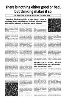 English letters Newspaper-