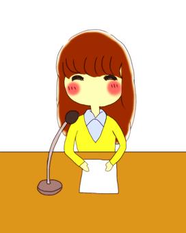 Announcer girl