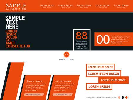 Simple web template