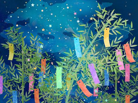 宇宙壁紙 天の川 七夕 水彩 ⑧