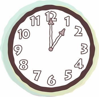 1 o'clock clock