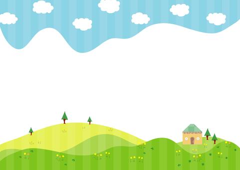 蓝天和绿色景观3