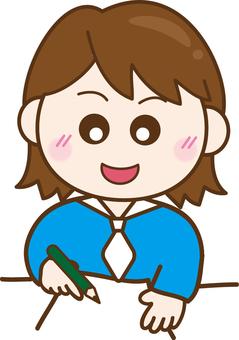 Illustration free girls cute study