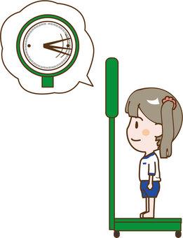 Body measure weight girl