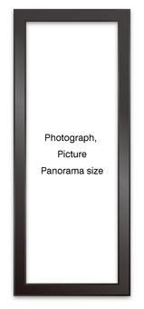 Panoramic frame black vertical