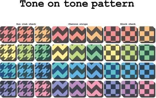 Tone on tone pattern