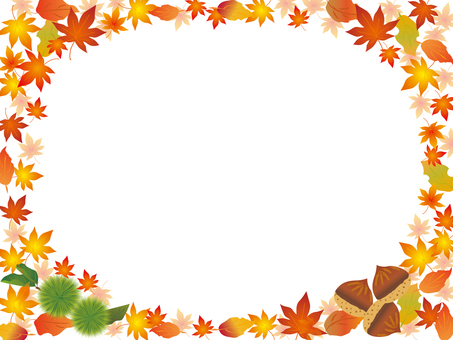 Autumn leaves Chestnut frame 1