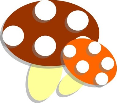 With mushroom shadow